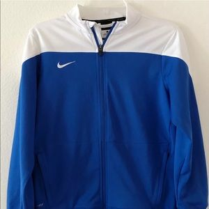 Nike Dri Fit Jacket Youth Large Blue & White